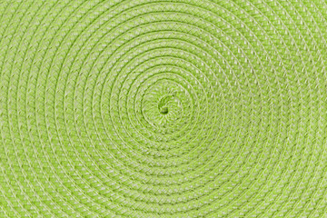 green circular pattern background  of wicker napkin