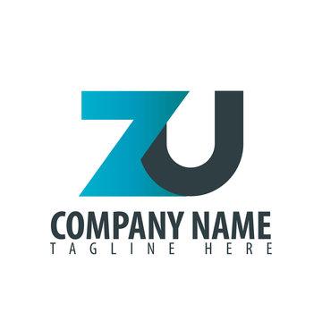 Initial Letter ZU Design Logo