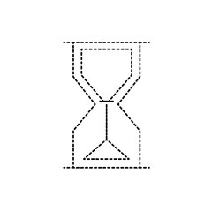 dotted shape hourglass object design to know the time