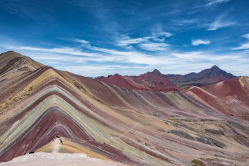 Poster Rainbow Mountain near Cusco, Peru. Altitude 5200m.