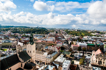The historical city of Lviv in Ukraine