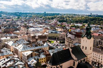 The historical city of Lviv in Ukraine