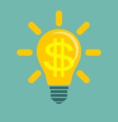 Idea to make money . Stock vector illustration for poster, greeting card, website, ad, business presentation, advertisement design.