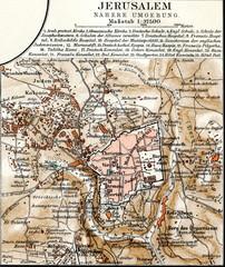 Map of Jerusalem (from Meyers Lexikon, 1896, 13/424/425)