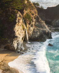 View of McWay Falls during golden hour