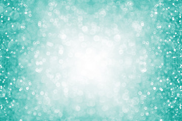 Fun teal and turquoise glitter sparkle border background texture