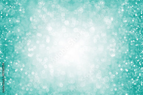 "The Texture Of Teal And Turquoise: ""Fun Teal And Turquoise Glitter Sparkle Border Background"