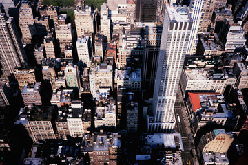 The Shadow of the Empire State Building on Manhattan