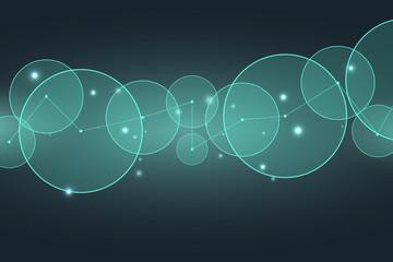 Abstract  technology  background.  Data transfer. Vector illustration. Energy transfer. Trendy geometric elements. Design.