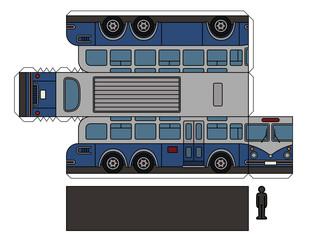 Paper model of a vintage large bus