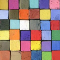 Farben Quadrate aus Pastell Kreiden