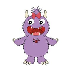 female furry monster character