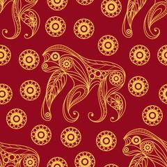 Seamless pattern with monkey 18