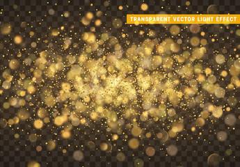 Bokeh golden lights vector texture.