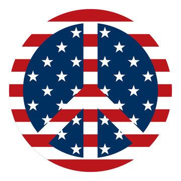 USA Flag Peace Sign