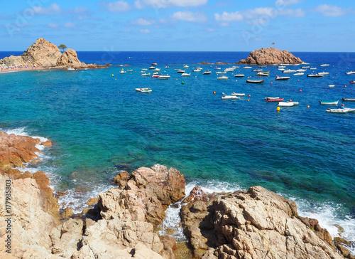 Landscape Of The Beach In Tossa De Mar Costa Brava Girona Spain