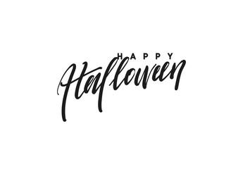 Celebration Happy Halloween. Vector lettering black calligraphy