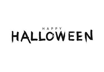 Celebration Happy Halloween. Vector lettering black brush