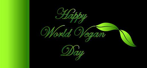 Vegan logo design, World Vegan day