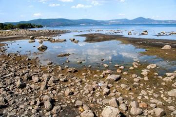 Lago di Bracciano: siccità
