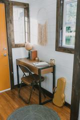 tiny house corner desk
