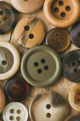Detail of old buttons