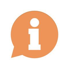 Orangene Sprechblase rund - Information