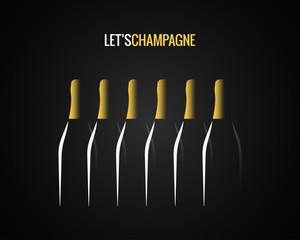 champagne bottle concept design background