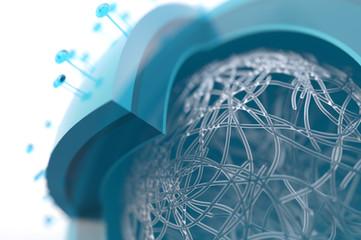 Inner life of a virus - 3D Rendering