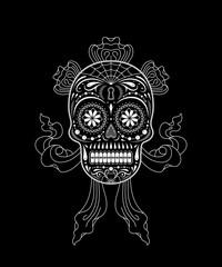 Stencil decorative sugar skull pattern
