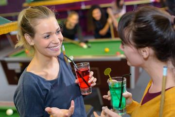 Women in snooker hall