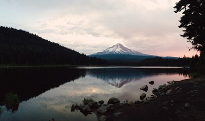 Reflected Mountain at Sunrise