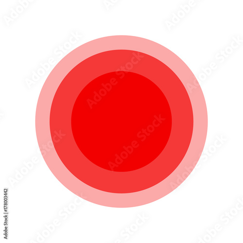 Symbol Of Pain Red Fading Circles Illustration Stock Image And