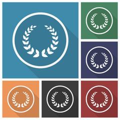 Button - Set - Schatten - Kranz - Auszeichnung