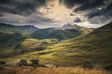 Peaks of Snowdonia Hills in Autumnal Colours