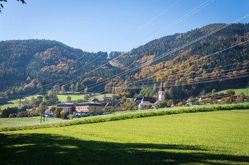 Idyllic view of non-urban landscapein Styria, on a day in autumn, Austria