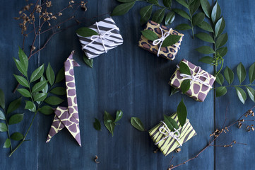 Animal inspired gift wrapping idea for kids