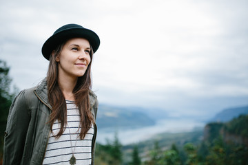 girl at gorge
