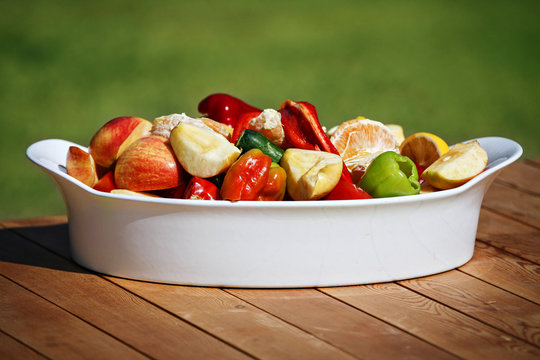 Healthy raw food fruits