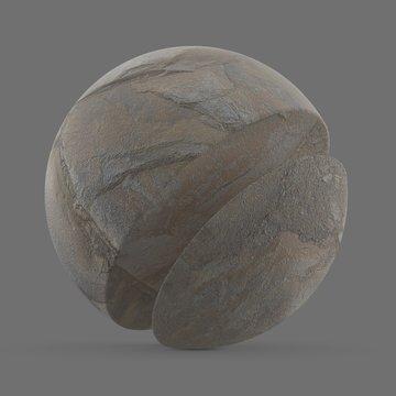 Natural stone on coastline, France