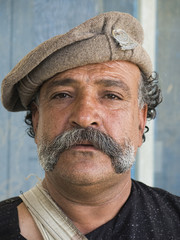 A Tribal Man With Huge Mustaches !