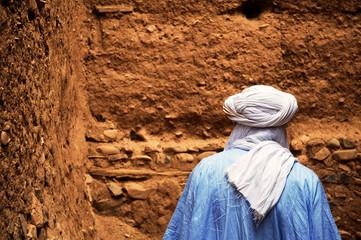 Berber in the streets of Amezrou