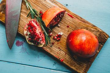 Cut Up Pomegranate