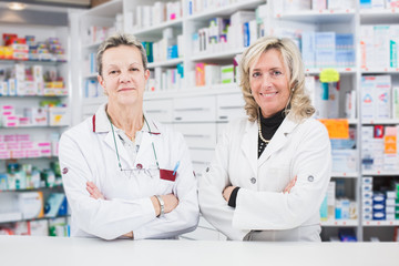 Doctors pharmacists at work