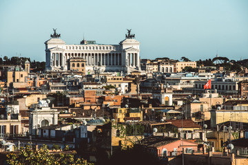Rome city from viewpoint