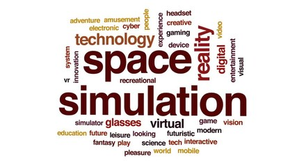 015 Space Simulation Animated Word Cloud Text Design Animation
