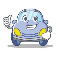 Thumbs up cute car character cartoon