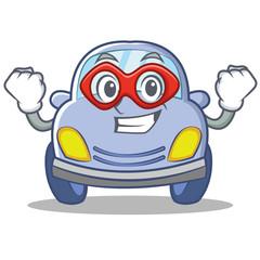 Super hero cute car character cartoon