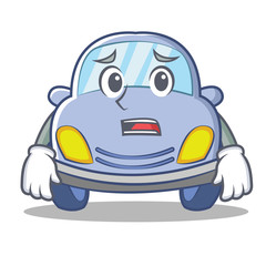 Afraid cute car character cartoon