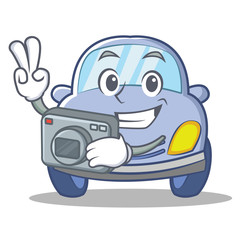 Photography cute car character cartoon